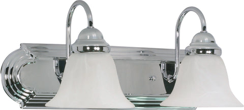 Nuvo Lighting 60/316 Ballerina 2 Light 18 Inch Vanity with Alabaster Glass Bell Shades