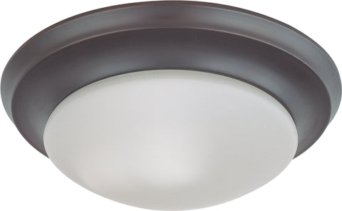 Nuvo Lighting 60/3175 1 Light 12 Inch Flush Mount Twist and Lock with Frosted White Glass