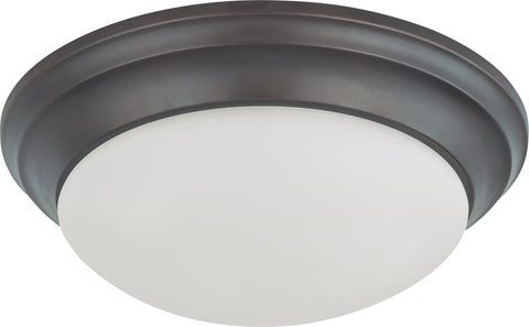 Nuvo Lighting 60/3176 2 Light 14 Inch Flush Mount Twist and Lock with Frosted White Glass