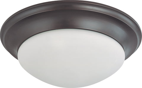 Nuvo Lighting 60/3177 3 Light 17 Inch Flush Mount Twist and Lock with Frosted White Glass