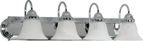 Nuvo Lighting 60/318 Ballerina 4 Light 30 Inch Vanity with Alabaster Glass Bell Shades