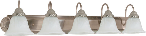 Nuvo Lighting 60/323 Ballerina 5 Light 36 Inch Vanity with Alabaster Glass Bell Shades