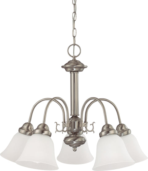 Nuvo Lighting 60/3240 Ballerina 5 Light 24 Inch Chandelier with Frosted White Glass