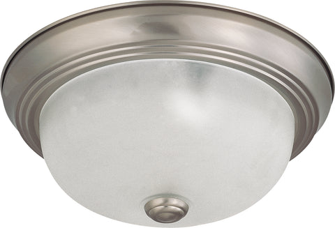 Nuvo Lighting 60/3261 2 Light 11 Inch Flush Mount with Frosted White Glass