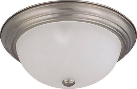 Nuvo Lighting 60/3263 3 Light 15 Inch Flush Mount with Frosted White Glass
