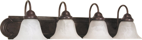 Nuvo Lighting 60/326 Ballerina 4 Light 30 Inch Vanity with Alabaster Glass Bell Shades