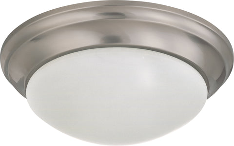Nuvo Lighting 60/3272 2 Light 14 Inch Flush Mount Twist and Lock with Frosted White Glass