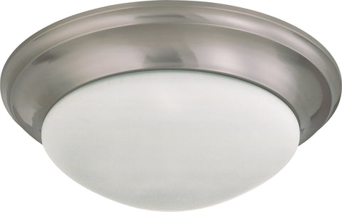 Nuvo Lighting 60/3273 3 Light 17 Inch Flush Mount Twist and Lock with Frosted White Glass