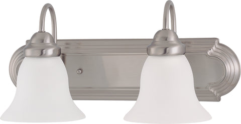 Nuvo Lighting 60/3278 Ballerina 2 Light 18 Inch Vanity with Frosted White Glass