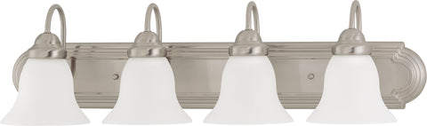 Nuvo Lighting 60/3281 Ballerina 4 Light 30 Inch Vanity with Frosted White Glass
