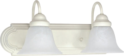 Nuvo Lighting 60/332 Ballerina 2 Light 18 Inch Vanity with Alabaster Glass Bell Shades