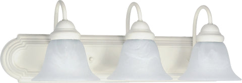 Nuvo Lighting 60/333 Ballerina 3 Light 24 Inch Vanity with Alabaster Glass Bell Shades