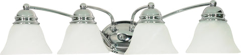 Nuvo Lighting 60/339 Empire 4 Light 29 Inch Vanity with Alabaster Glass Bell Shades