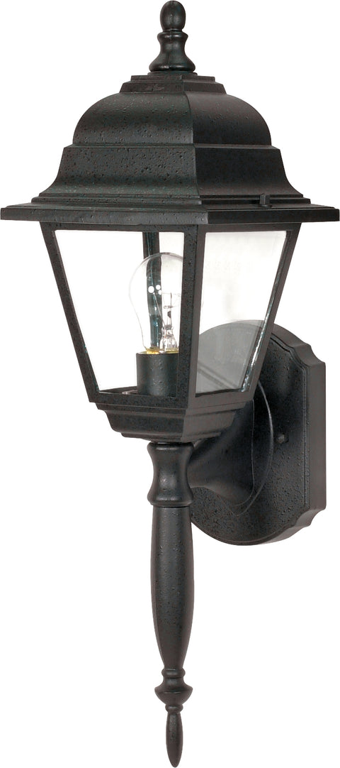 Nuvo Lighting 60/3455 Briton 1 Light 18 Inch Wall Mount Sconce Lantern with Clear Seed Glass Color retail packaging