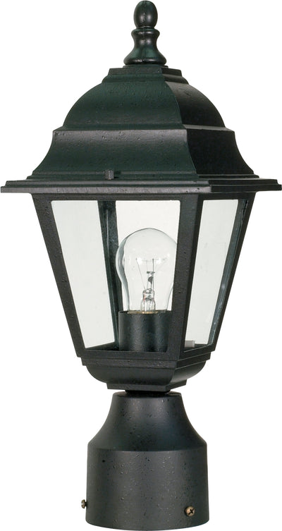 Nuvo Lighting 60/3456 Briton 1 Light 14 Inch Post Lantern with Clear Glass Color retail packaging