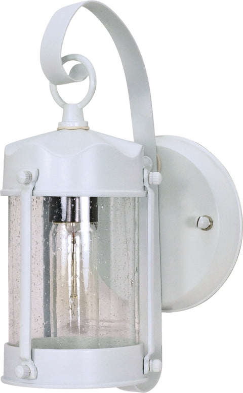 Nuvo Lighting 60/3460 1 Light 10 5/8 Inch Wall Mount Sconce Lantern Piper Lantern with Clear Seed Glass Color retail packaging