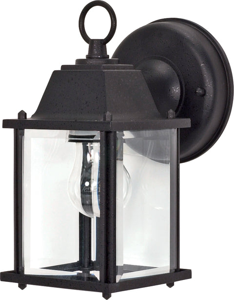 Nuvo Lighting 60/3465 1 Light 8 5/8 Inch Wall Mount Sconce Lantern Cube Lantern with Clear Beveled Glass Color retail packaging