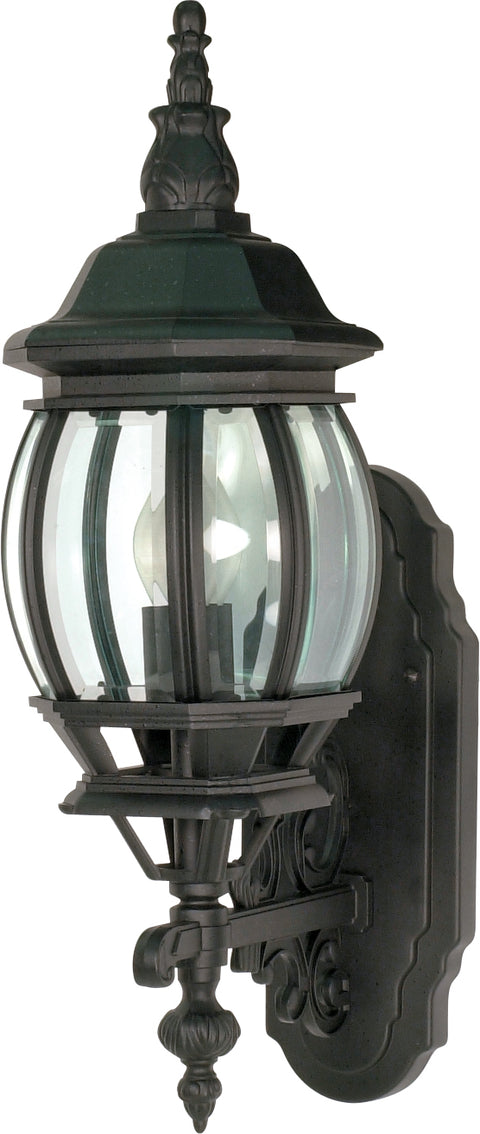 Nuvo Lighting 60/3469 Central Park 1 Light 20 Inch Wall Mount Sconce Lantern with Clear Beveled Glass Color retail packaging