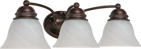 Nuvo Lighting 60/346 Empire 3 Light 21 Inch Vanity with Alabaster Glass Bell Shades