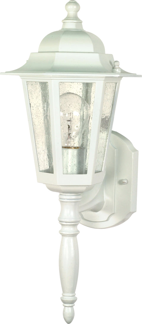 Nuvo Lighting 60/3470 Cornerstone 1 Light 18 Inch Wall Mount Sconce Lantern with Clear Seed Glass Color retail packaging