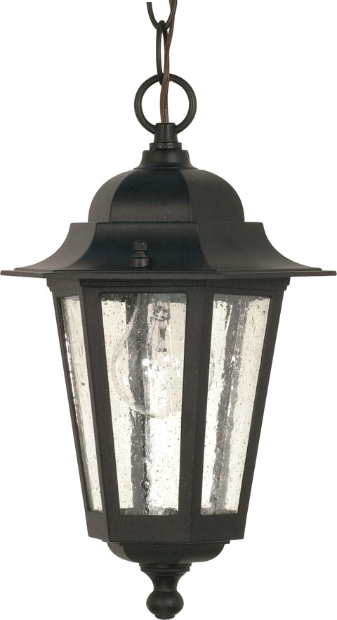 Nuvo Lighting 60/3476 Cornerstone 1 Light 13 Inch Hanging Lantern with Clear Seed Glass Color retail packaging