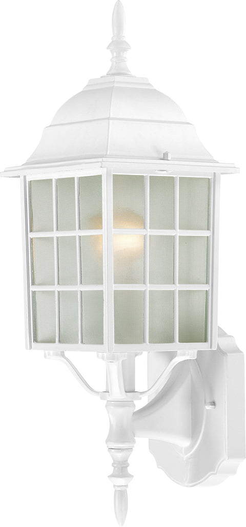 Nuvo Lighting 60/3477 Adams 1 Light 18 Inch Outdoor Wall Mount Sconce with Frosted Glass Color retail packaging