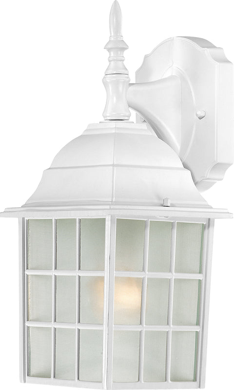 Nuvo Lighting 60/3480 Adams 1 Light 14 Inch Outdoor Wall Mount Sconce with Frosted Glass Color retail packaging