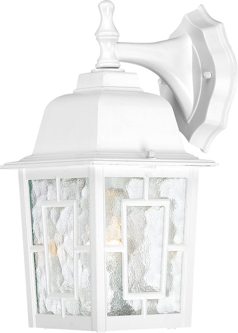 Nuvo Lighting 60/3484 Banyan 1 Light 12 Inch Outdoor Wall Mount Sconce with Clear Water Glass Color retail packaging