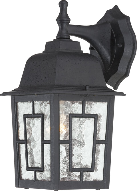 Nuvo Lighting 60/3486 Banyan 1 Light 12 Inch Outdoor Wall Mount Sconce with Clear Water Glass Color retail packaging