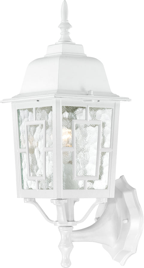 Nuvo Lighting 60/3487 Banyan 1 Light 17 Inch Outdoor Wall Mount Sconce with Clear Water Glass Color retail packaging