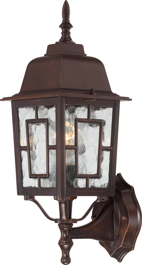 Nuvo Lighting 60/3488 Banyan 1 Light 17 Inch Outdoor Wall Mount Sconce with Clear Water Glass Color retail packaging