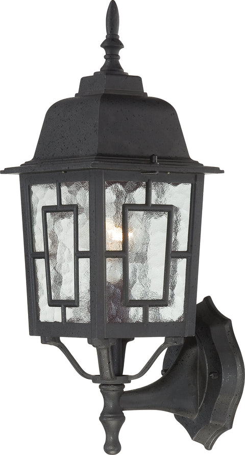 Nuvo Lighting 60/3489 Banyan 1 Light 17 Inch Outdoor Wall Mount Sconce with Clear Water Glass Color retail packaging