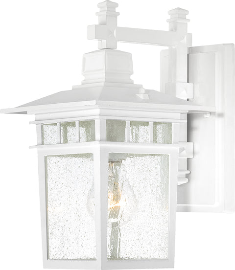 Nuvo Lighting 60/3491 Cove Neck 1 Light 12 Inch Outdoor Lantern with Clear Seed Glass Color retail packaging