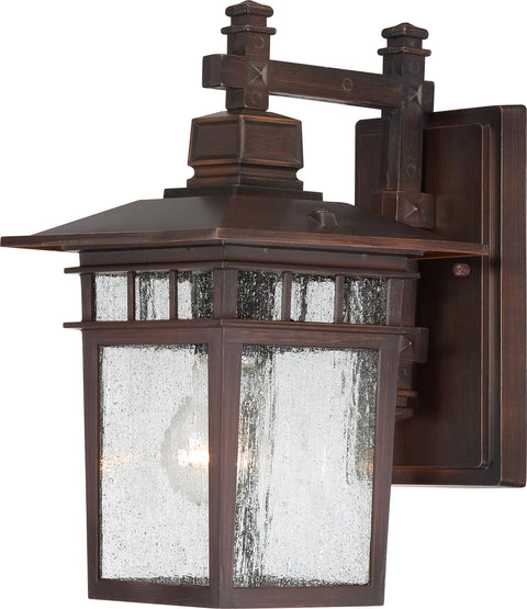 Nuvo Lighting 60/3492 Cove Neck 1 Light 12 Inch Outdoor Lantern with Clear Seed Glass Color retail packaging