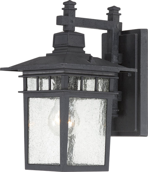 Nuvo Lighting 60/3493 Cove Neck 1 Light 12 Inch Outdoor Lantern with Clear Seed Glass Color retail packaging