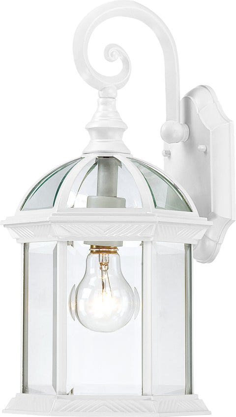 Nuvo Lighting 60/3494 Boxwood 1 Light 15 Inch Outdoor Wall Mount Sconce with Clear Seed Glass Color retail packaging