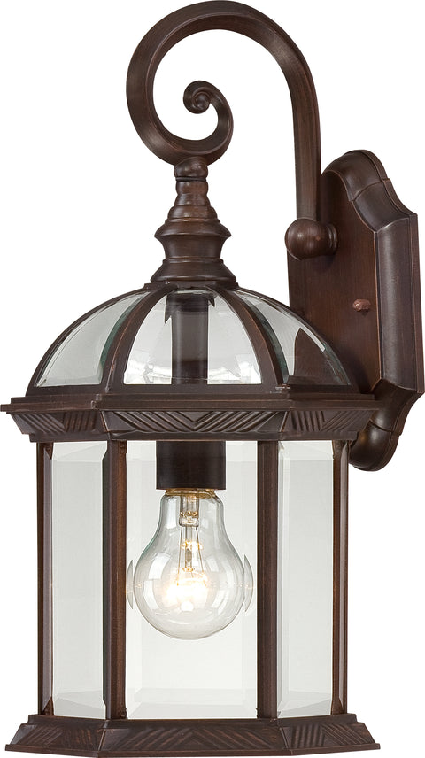 Nuvo Lighting 60/3495 Boxwood 1 Light 15 Inch Outdoor Wall Mount Sconce with Clear Beveled Glass Color retail packaging