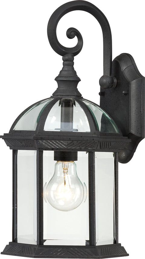 Nuvo Lighting 60/3496 Boxwood 1 Light 15 Inch Outdoor Wall Mount Sconce with Clear Beveled Glass Color retail packaging