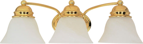 Nuvo Lighting 60/350 Empire 3 Light 21 Inch Vanity with Alabaster Glass Bell Shades