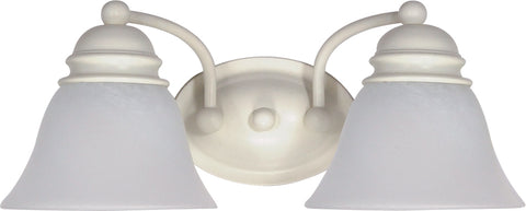 Nuvo Lighting 60/353 Empire 2 Light 15 Inch Vanity with Alabaster Glass Bell Shades