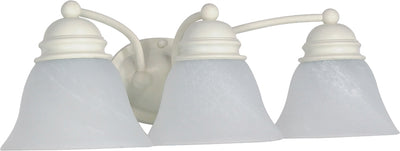 Nuvo Lighting 60/354 Empire 3 Light 21 Inch Vanity with Alabaster Glass Bell Shades