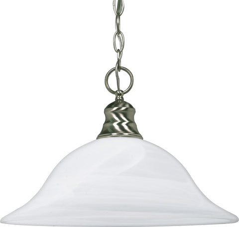 Nuvo Lighting 60/390 1 Light 16 Inch Pendant Alabaster Glass