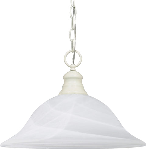 Nuvo Lighting 60/393 1 Light 16 Inch Pendant Alabaster Glass