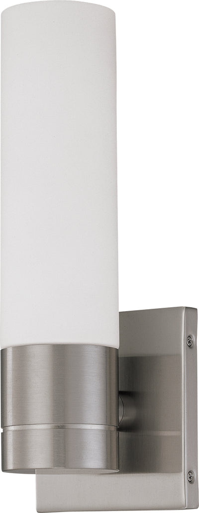 Nuvo Lighting 60/3953 LINK ES 1 LIGHT WALL SCONCE  BRUSHED NICKEL/SATIN WHITE GLS