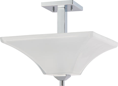 Nuvo Lighting 60/4007 Parker 2 Light Semi Flush Fixture with Sandstone Etched Glass