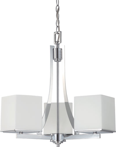 Nuvo Lighting 60/4085 Bento 3 Light Chandelier with Satin White Glass