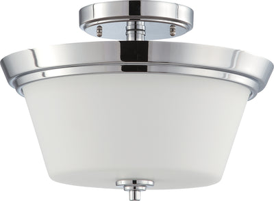 Nuvo Lighting 60/4087 Bento 2 Light Semi Flush Fixture with Satin White Glass