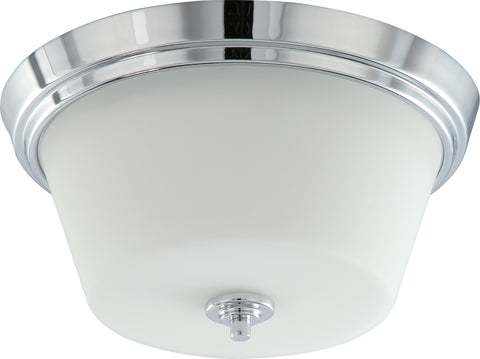 Nuvo Lighting 60/4088 Bento 2 Light Flush Fixture with Satin White Glass