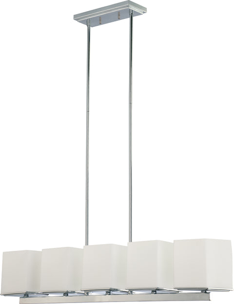 Nuvo Lighting 60/4091 Bento 5 Light Island Pendant with Satin White Glass