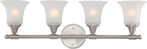 Nuvo Lighting 60/4144 Surrey 4 Light Vanity Fixture with Frosted Glass